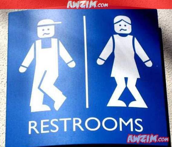 restroom sign
