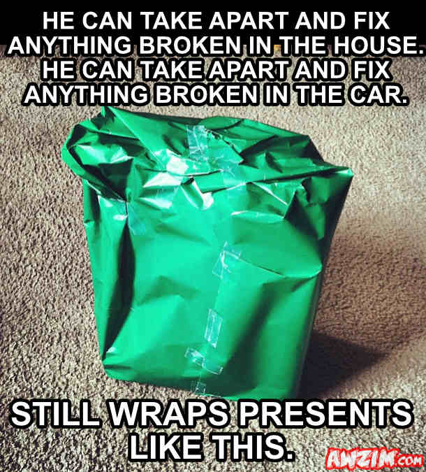bad gift wrapping
